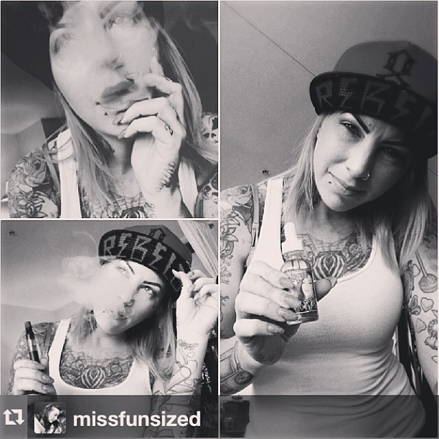 We love rad, and this chick... Is... RAD!!! #vapeon!!! #Repost from @missfunsized with @repostapp --- Seriously one of THE BEST #ejuices I've ever tried!! @eviltwinetonics @eviltwinetonics @eviltwinetonics Even more bomb because it has my face on the bottle lol thank you so much @eviltwinetonics !!! Can't wait to try more! #vapelife #vape #yummy #tastelikecandy #tradingmyhabbits